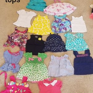 12 mon bundle of girl tops
